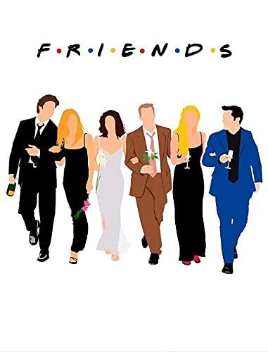 daerduotutu Decoración del hogar Friends TV Series Lienzo Pintura Pared Arte Cartel Dibujos Animados Fondo de cabecera A58 50 × 70CM sin Marco