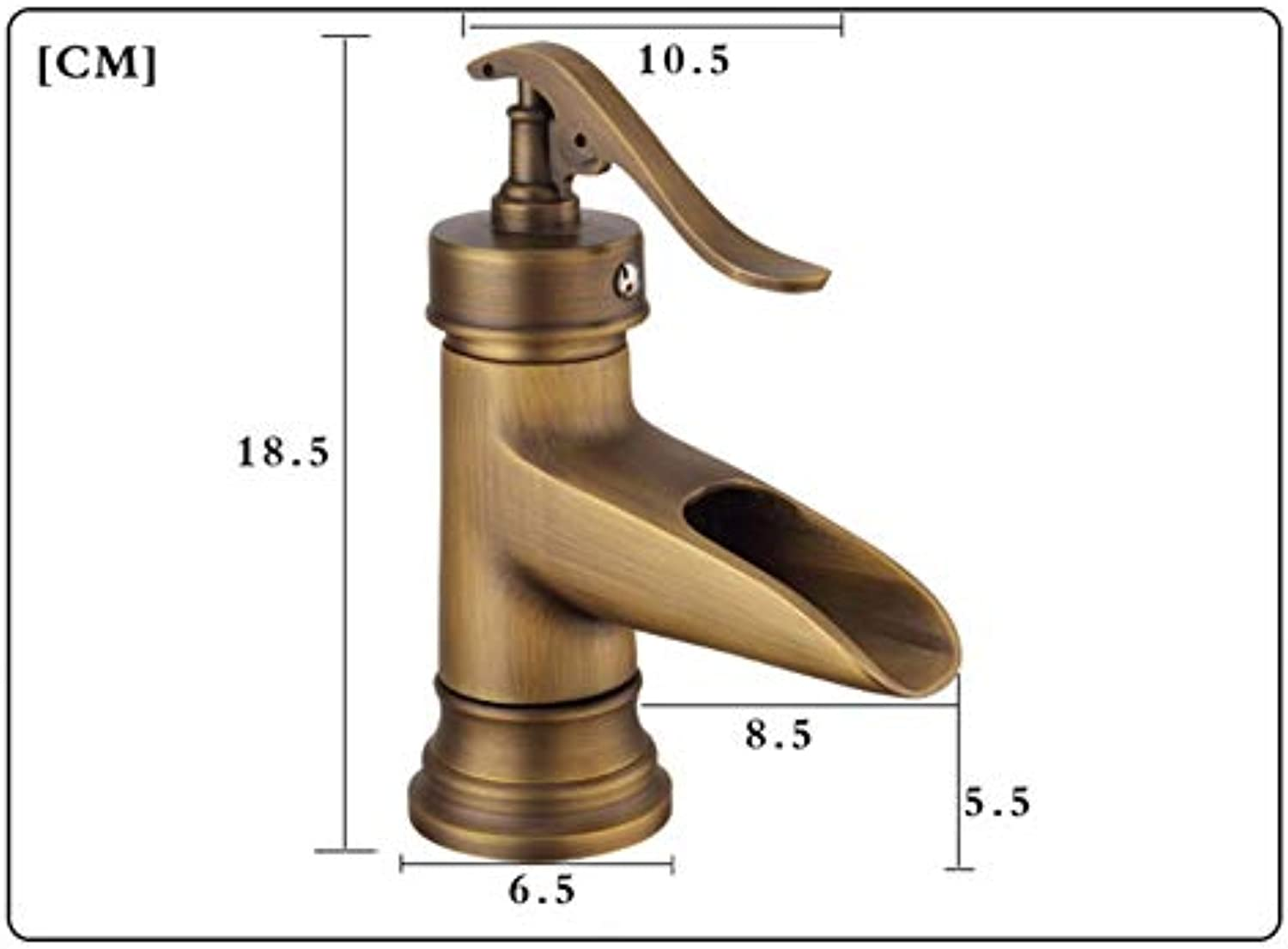 Brass Single Handle Control Faucet Kitchen Bathroom Basin Mixer Tap Antique Sink Basin Tap Bathroom Sink Faucets