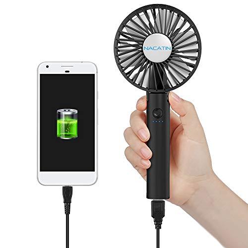 NACATIN – El mejor ventilador USB con sistema dual de alimentación
