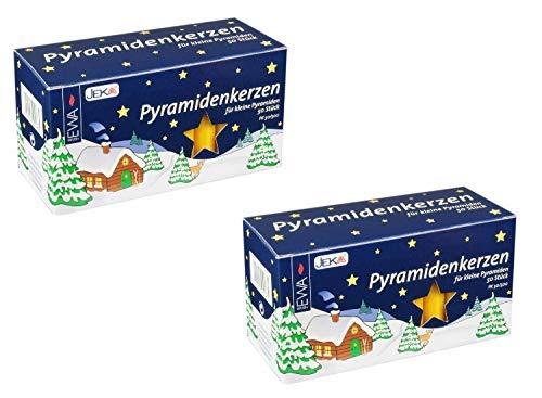 Ebersbacher Kerzenfabrik GmbH EWA raumbox Kerzen PYRAMIDENKERZEN Natur für Advents- & Weihnachtspyramiden | 100 Stück