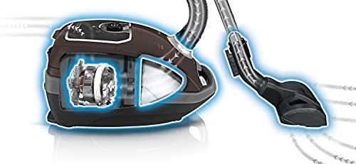 Siemens Z 7.0 Bodenstaubsauger mit Beutel VSZ7A400, sehr niedriger Stromverbrauch, XXL-Polsterdüse, langes Kabel, für Allergiker, 650 Watt, schwarz