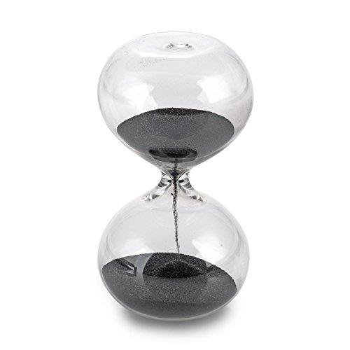 pajoma Sanduhr Still aus Glas, 30 Minuten Laufzeit, H 17,5 x D 9 cm