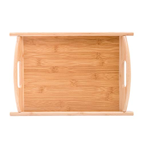 ZLSP Bambú creativo nórdica de estilo bandeja, rectangular Inicio filete pizza plato de fruta sólida placa de madera ZLSP (Size : 30 * 45cm)