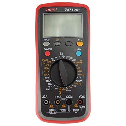 Electrotécnico Digital Probador de multímetro Medidores Multiusos automotrices Profesionales Digitales UA7105 + Multímetro preciso