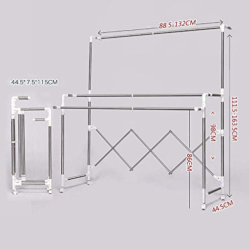 FF Hangers voor het drogen van planken Kleren rek Airer/Hanger Xtype roestvrij staal telescopische vouwen/Buiten balkon Hangers voor het drogen planken Kleren hangers