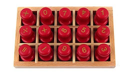 Wumudidi Montessori Digitale Stempel, Strokes und Radikale Stempel frühkindlichen Bildung Hilfen Spielzeug,Numbers