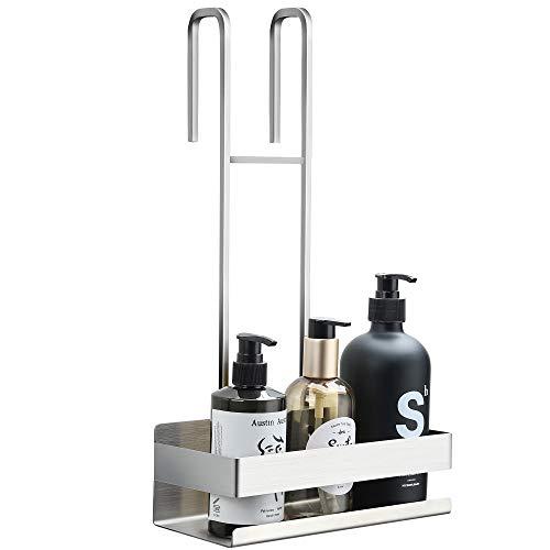 RUICER Duschablage zum Hängen Edelstahl - Duschregal Ohne Bohren Duschkorb zum Einhängen über die Duschtür für Badezimmer