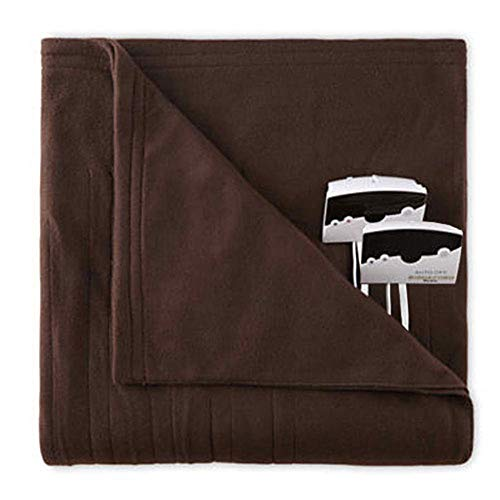 Overstock Biddeford 1004-9052106-711 Fleece Electric Heated Blanket King Chocolate