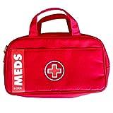 AllerMates MyMeds Ruby Medicine Bag for Allergy and Asthma Medicine'Red Meds'