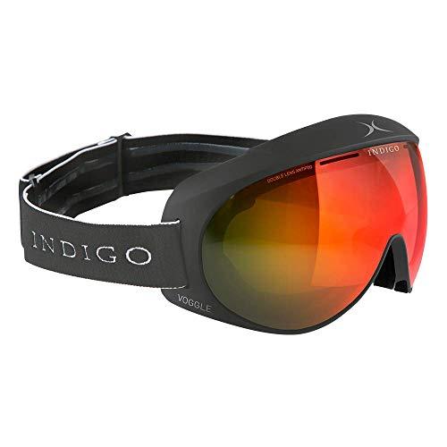 Indigo Voggle Mirror Rot | Asian Fit | Titan | Ski & Snowboard Brille | Hochwertige Qualität