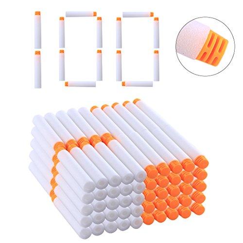 YAHAMA Darts Pfeile für Nerf, Pfeile Leuchtend 100 Stück Weiß Refill Bullets für Nerf