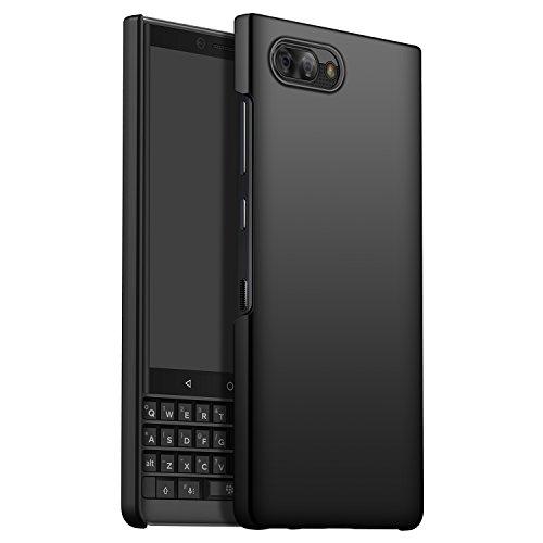 Blackberry KEY2 Coque Antichoc, CiCiCat Coque Étui Coque Housse De Protection pour Blackberry KEY2, Ultra Svelte Difficile PC Protecteur Case Cover. (Blackberry KEY2 4.5'', Noir)