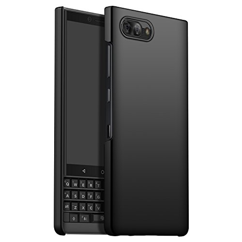 CiCiCat Funda Case Blackberry KEY2, Slim Anti-Rasguño Anti-Golpes Bumper Difícil PC Back Protectora Carcasa Caso Cover Funda para Blackberry KEY2 Smartphone. (Blackberry KEY2 4.5'', Negro)