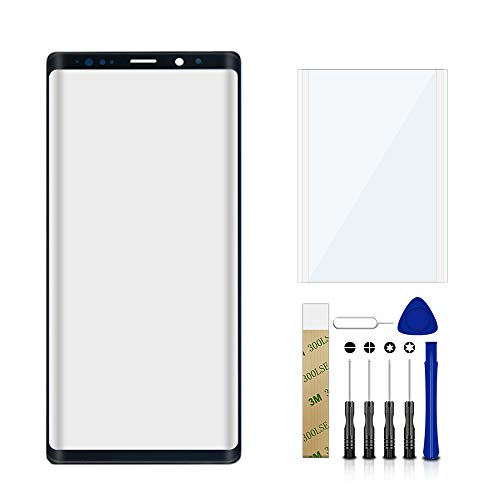 Price comparison product image for Samsung Galaxy Note 9 SM-N960U1 Black Outer Front Glass Lens Screen Replacement + OCA Tool Kit
