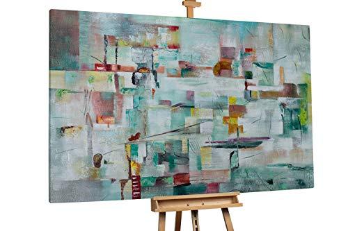 'Pale City' 180x120cm | Abstrakt Beige Deko Muster | Modernes Kunst Ölbild