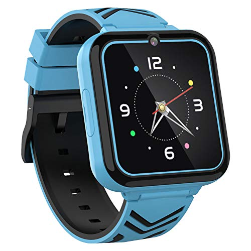 Teléfono Smart Watch para niños,con Games SOS Call,Linterna 1.57'Pantalla táctil,Cámara Frontal,Reproductor de música,para niños niñas Estudiantes cumpleaños 3-12y