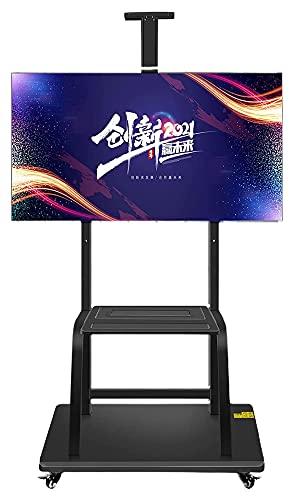 TabloKanvas Carrito de TV móvil para 40 a 85 pulgadas, altura ajustable (color negro)