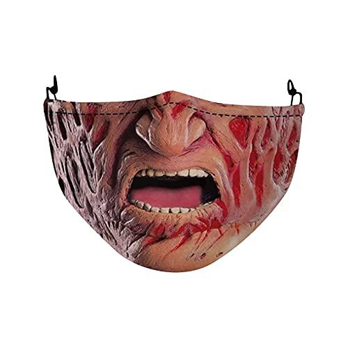 YQRDSHJS Máscara de Halloween para adultos, protección para la boca y la nariz, 1...