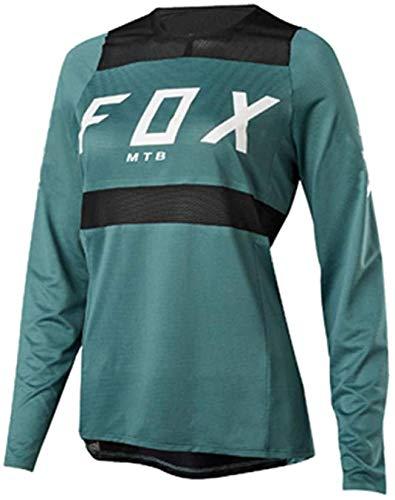 Maillot Ciclista de Manga Larga para Mujer Women Downhill Jerseys Fox MTB...