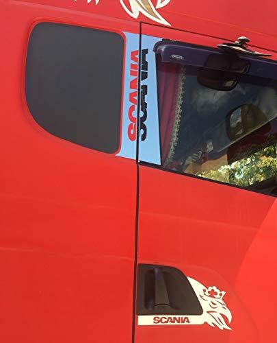 24/7Auto Cubiertas de ventana de acero inoxidable + cubiertas de manija de puerta para Scania R/L/P 2004-2015