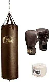 Everlast 100 Lb Vintage Heavy Punching Bag Kit