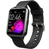 jpantech Bluetooth Smart Watch,Health und Fitness Tracker Smartwatch Blutdruck-Aktivitätsuhr, Anrufe SMS Benachrichtigung Fernbedienung Kamera für iOS Android Handy