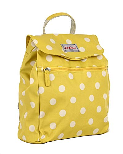 Cath Kidston handbag backpack in Button Spot Design in Warm Yellow Oilcloth