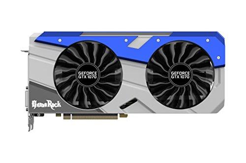 Palit NVIDIA GeForce GTX 1070 GameRock+ GeForce GTX 1070 8GB GDDR5 - Tarjeta gráfica (GeForce GTX 1070, 8 GB, GDDR5, 256 bit, 7680 x 4320 Pixeles, PCI Express x16 3.0)