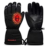 Battery Heated Gloves for Men Women,Rechargeable Electric Heated Gloves for Skiing,Motorcycle Hiking Cycling Hunting Raynaud & Arthritis