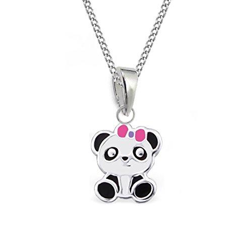 GH* KIDS Kleine Panda ANHÄNGER + KETTE 925 Sterling Silber Kinder Mädchen Baby Pandabär (38)