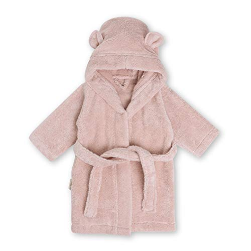 Natemia Organic Hooded Bathrobe for Babies and Toddlers – Ultra Soft and Absorbent GOTS Certified Turkish Cotton Kids Robe - Made in Turkey