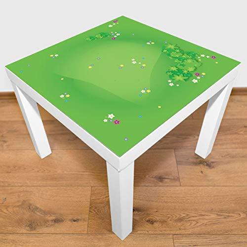playmatt Spielmatte - Graslandschaft mit Blumen | rutschfest | 100% schadstofffrei | waschbar