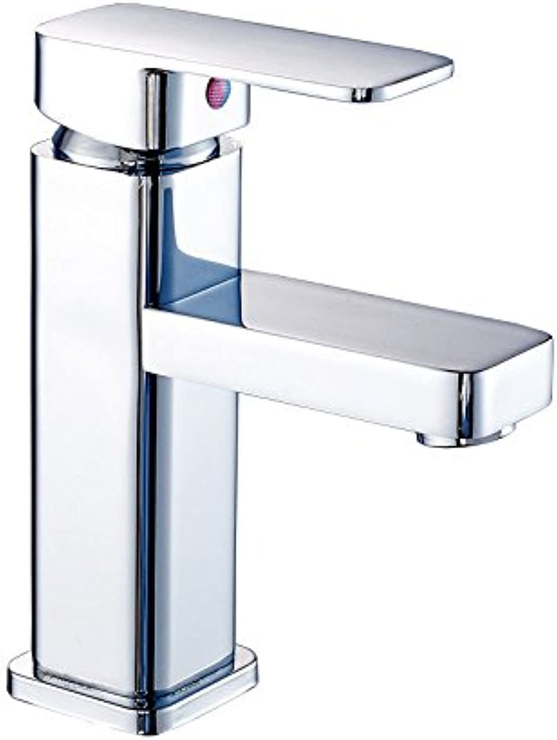 Copper hot and cold faucet basin
