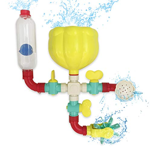 Lydaz Pipe Bath Toys with Fun Widgets - Educational Bathtub Water Toy for Age 1...