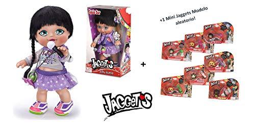 Jaggets - Muñeca Paula Pop 14'/35cm en Caja (Famosa 700013785) + 1 Mini Luminosa Jaggets aleatoria 1'5'/4cm en Blister (Famosa 70014074)