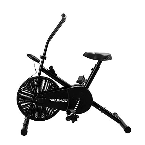 Sparnod Fitness SAB-04 Air Bike Exercise Cycle for Home Gym - Adjustable Resistance, Height Adjustable Seat (Do It Yourself Installation)