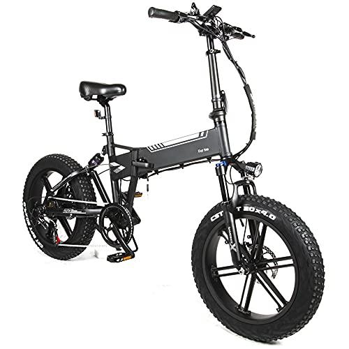 TGHY Bicicleta Eléctrica Plegable Neumático Grueso de 20