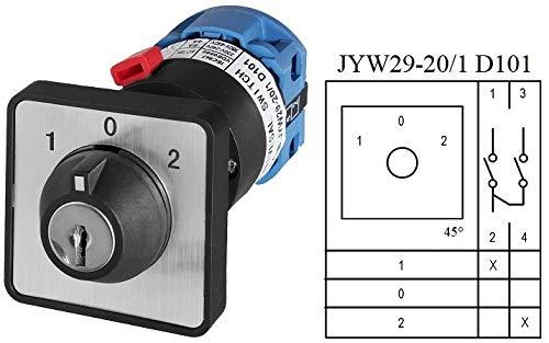 Schlüsselschalter, Drehschalter, Nockenschalter, Hauptschalter, 5 Modelle zum Auswählen (JYW29-20/1 D101 Schalter)