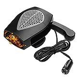 Portable Car Heater, Car Defroster Defogger 12V Truck 2 in1 Car Heat Cooling Fan, Plug Adjustable Thermostat in Cigarette Lighter 150W 3-Outlet Plug USB