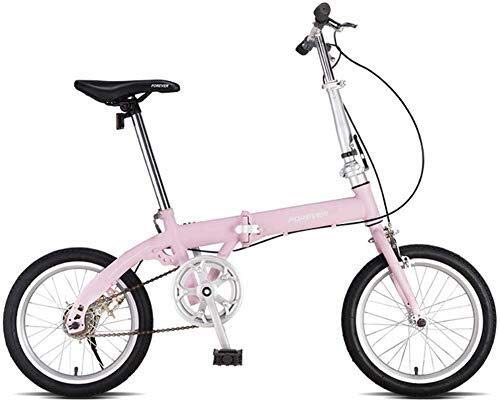 Chenbz Kids' Bikes Foldable Bicycle Children's Outdoor Bicycle Children Folding Bicycle Boy Girl Travel Bicycle 3~14 Year Old Children Bicycle (Color : Pink, Size : 16inch)