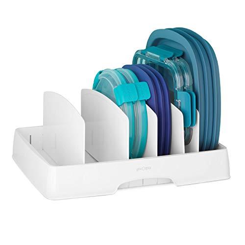 YouCopia 50235 StoraLid Food Container Deckel-Organizer, plastik, weiß