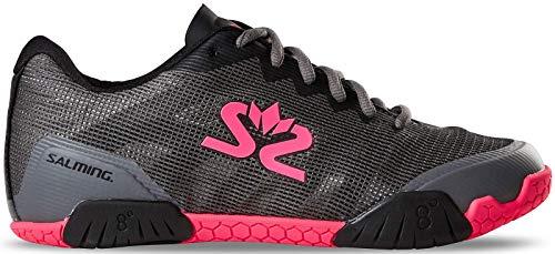Salming Hawk Damen Handballschuh 1239086-0251 (42 EU, Gunmetal/Pink)