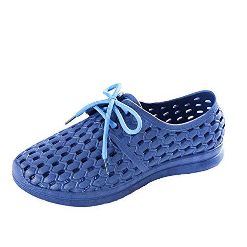 Sandalias y Zapatillas Zapatos de Playa Zapatos con Agujeros Transpirables Sandalias de Verano Ligeras y Ocasionales para Hombres y Mujeres Antideslizantes (Dark Blue, Numeric_40)