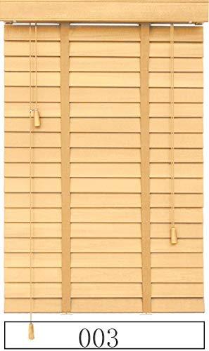 HOUSEHOLD Schattierungen Verdunkelung Jalousien für Fenster Holzjalousie Leiterband Styel Customized Größe Block Der Licht Real Wood Jalousien (Color : 003, Size : Customize Size(1 m2))