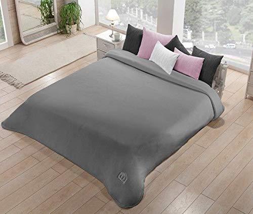 Manterol-Decke für Einzelbett Größe Maxi in Stoff Dralon Inside Velvet Effect Art. Polo Farbe Gewicht Winter 625 gr/mq cm 180x240 (Grau 12)