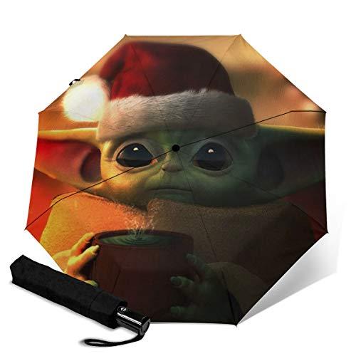 Star Wars Yoda - Paraguas de viaje plegable y portátil, a prueba...