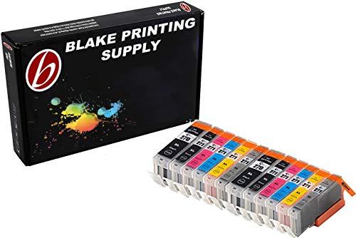 Blake Printing Supply 12 Pack Ink Cartridges for 270XL 271XL PIXMA MG7720, MG6820, MG5720, TS9020, TS8020, TS6020, TS5020 2 Big Black, 2 Gray 2 Small Black, 2 Cyan, 2 Magenta, 2 Yellow