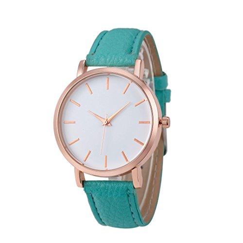 Xinantime Relojes Pulsera Mujer,Xinan Cuero PU Acero Inoxidable Analógico Cuarzo Reloj (Cielo Azul)