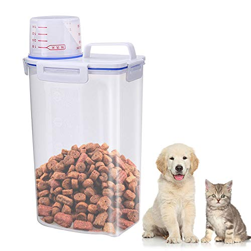 Airtight Dog Food Storage Container, Small Pet Food Container with...