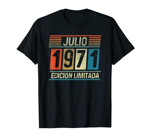Julio 1971 Vintage - 50 años Regalo Cumpleaños Hombre Camiseta